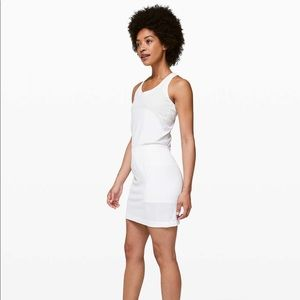 lululemon flex on court dress in white